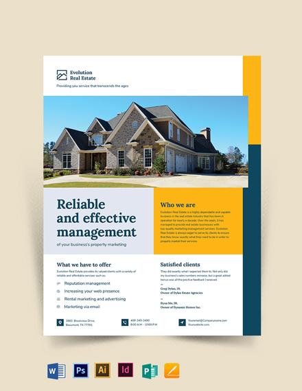 Property Management marketing Flyer Template