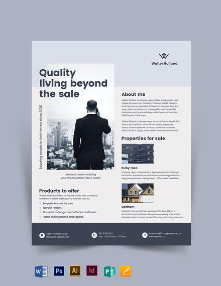 Real Estate Development Investor Flyer Template