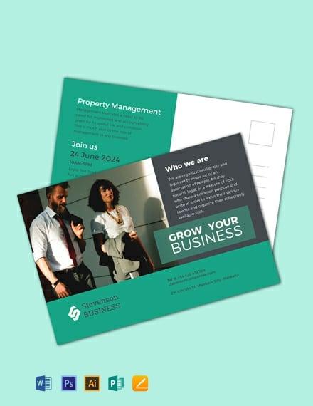 FREE Multi Purpose Business Postcard Template - Word (DOC ...