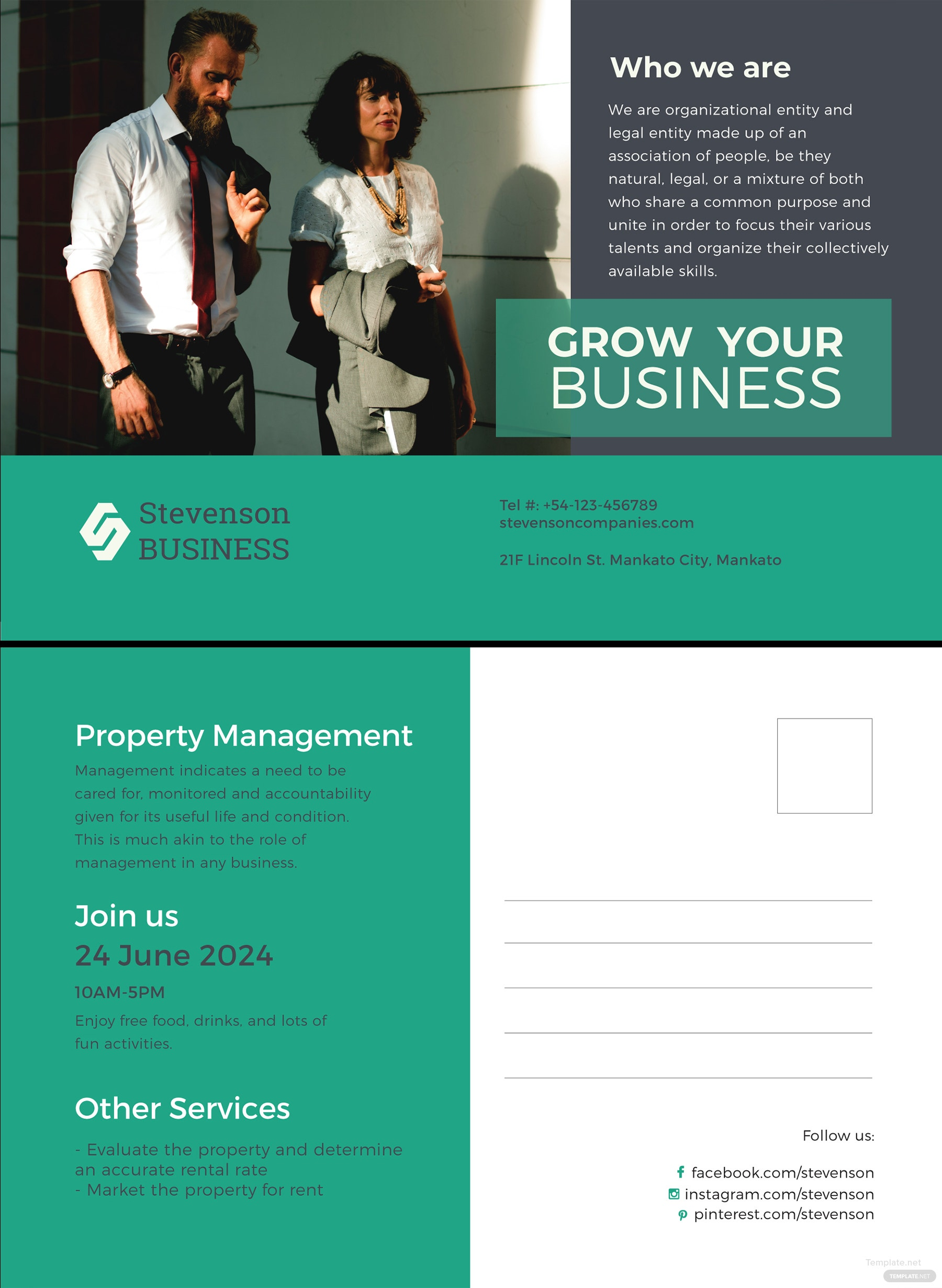 Free multi purpose business postcard template in adobe photoshop multi purpose business postcard template cheaphphosting