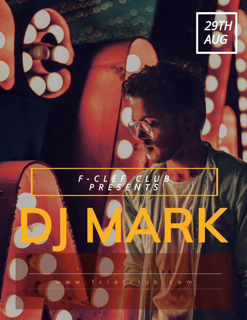 DJ Event Flyer Template