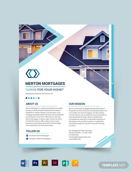 Realestate Mortgage Broker Flyer Template