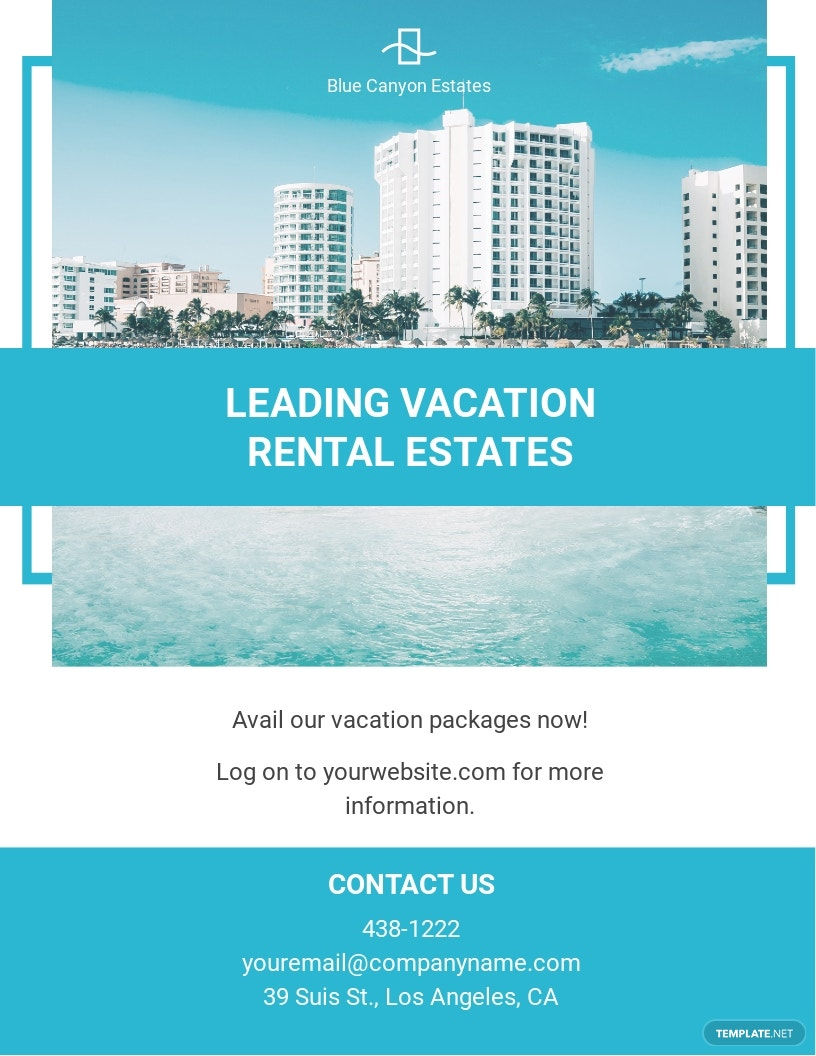 Vacation Rental Management Flyer Template