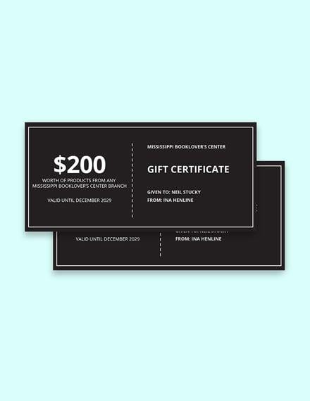 Modern Chalkboard Gift Certificate