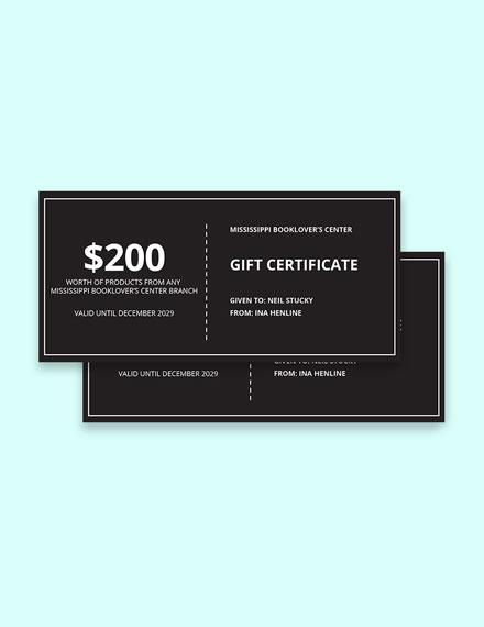 Modern Chalkboard Gift Certificate Template