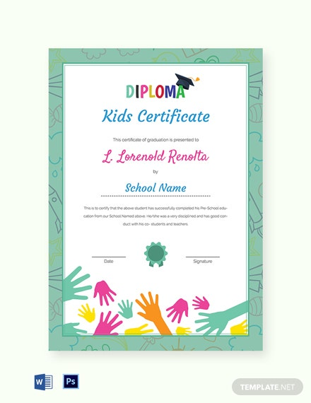 school diploma certificate