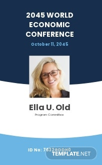 Conference Event ID Card Template