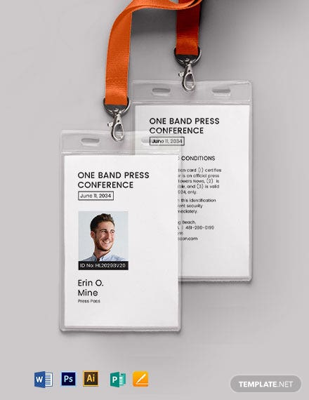 Event Pass ID Card Template