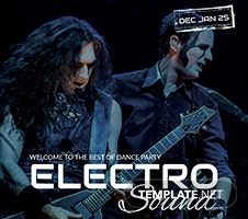 Free Electro Concert Party Flyer Template
