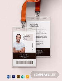 Event Staff ID Card Template