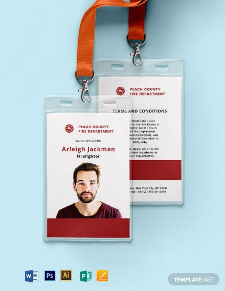 Fire ID Card Template