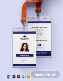 Government Employee ID Card Template