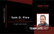 Gym Membership ID Card Template