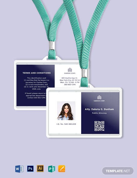 Notary Public ID Card Template