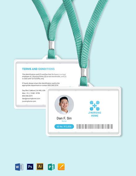 Nursing Home ID Card Template