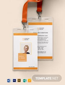 Office Staff ID Card Template