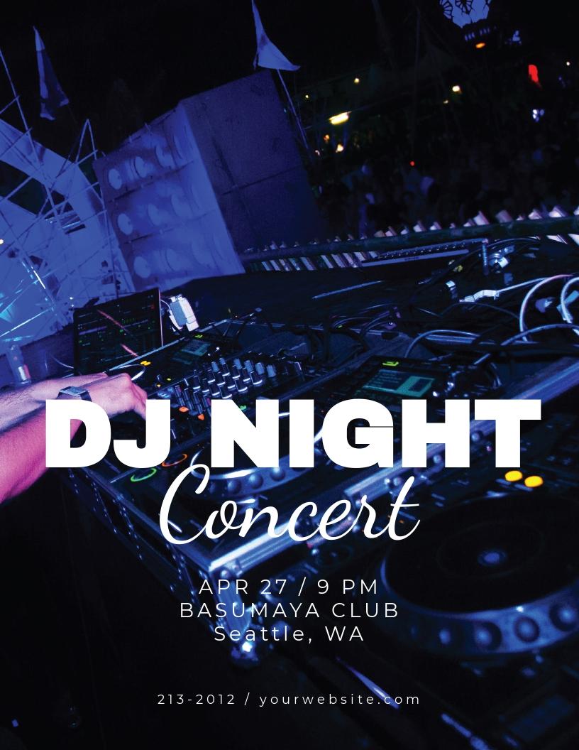 DJ Night Concert Flyer Template