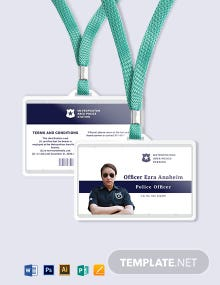 Police ID Card Template