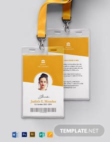 Vertical School ID Card Template