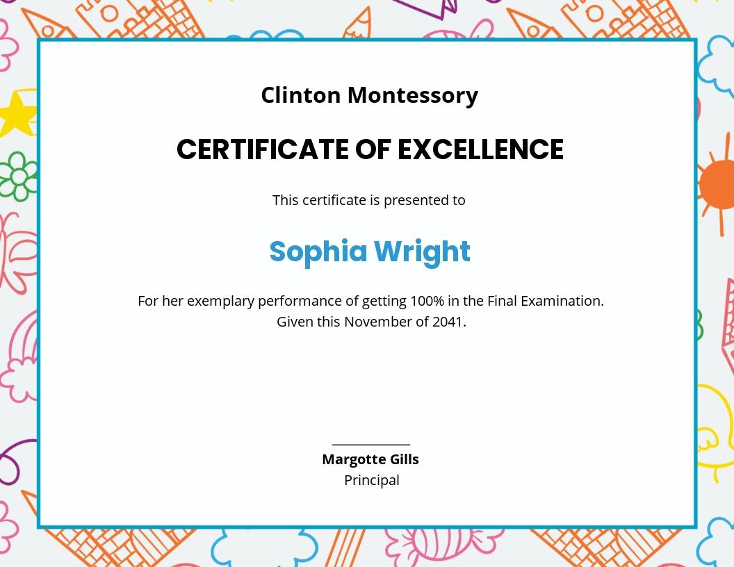 Kids Certificate of Appreciation Template