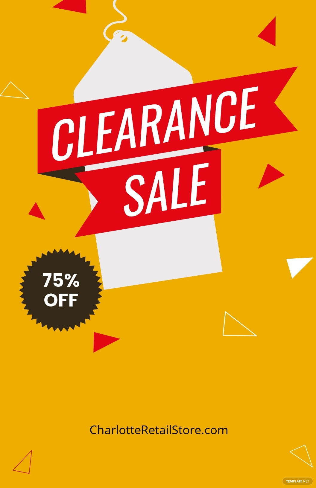 Clearance Sale Poster Template