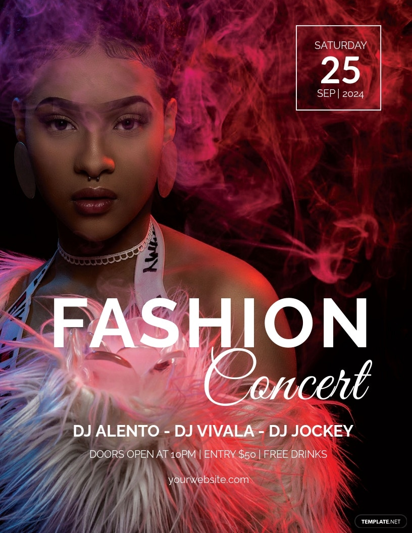 Fashion Concert Flyer Template