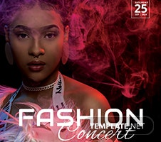 Free Fashion Concert Flyer Template