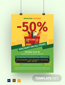 Discount Sale Poster Template