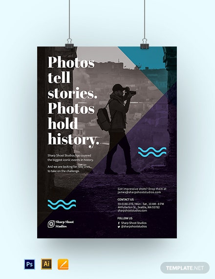 Editable Photography Poster Template