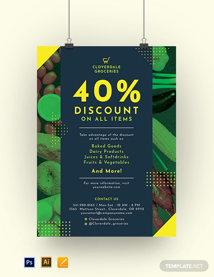 Editable Sale Poster Template