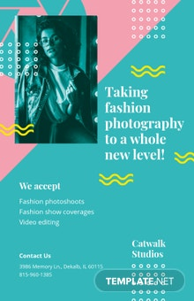 Fashion Photography Poster Template