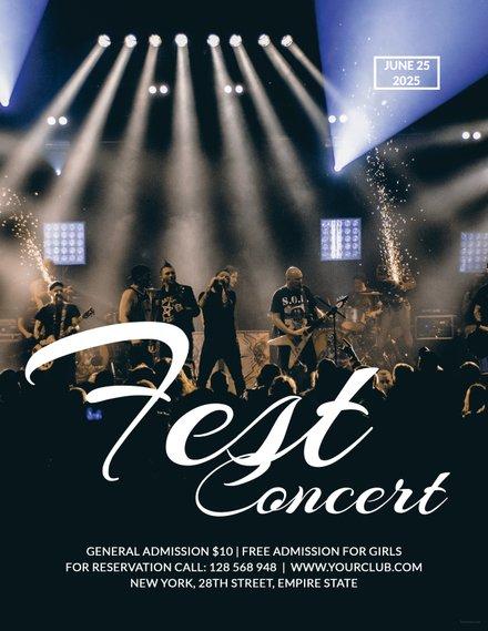 Free Rock Concert Fest Flyer Template