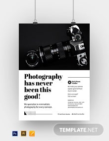 Minimalistic Photography Poster Template