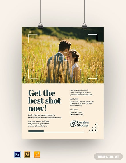 Printable Photography Poster Template