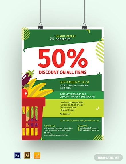 Printable Sale Poster Template