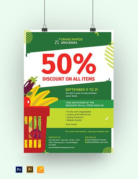 Printable Sale Poster template