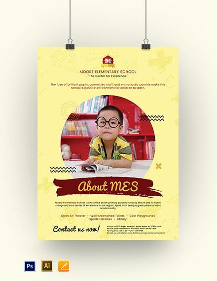 Printable School Poster Template