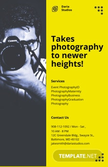 Professional Photography Poster Template
