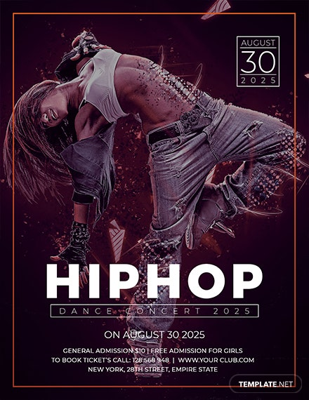 Free Hip Hop Concert Flyer Template
