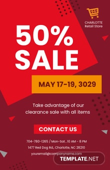 Retail Sale Poster Template