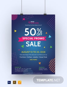 Sales Promotion Poster Template