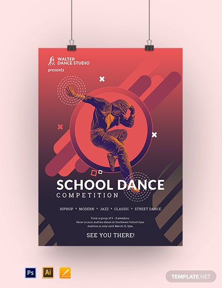 School Dance Poster Template