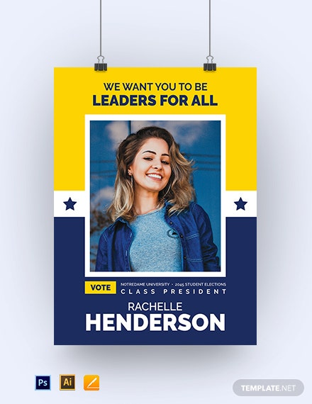 School Election Poster Template