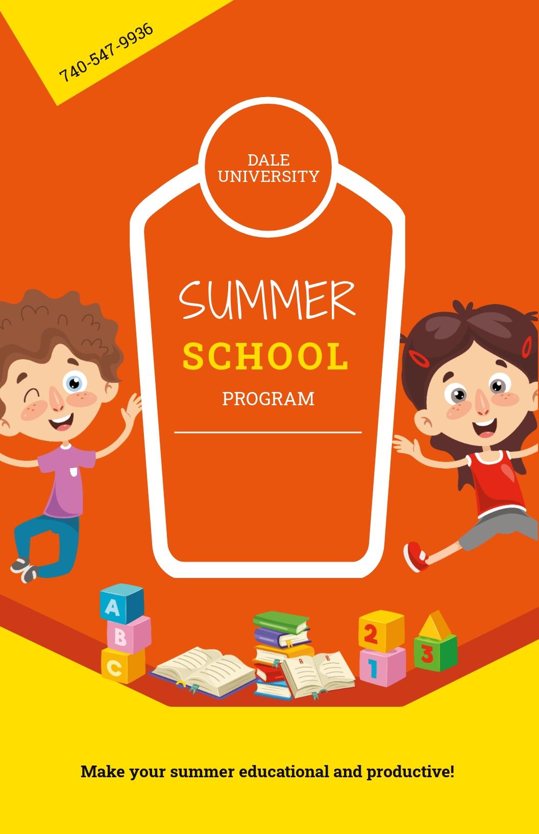 Summer School Poster Template