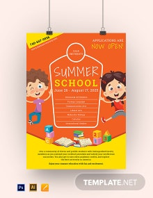 Summer School Poster Template