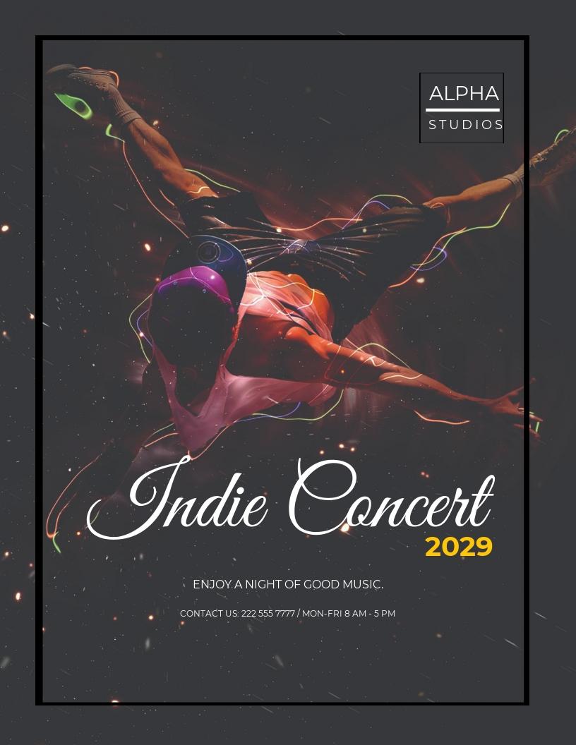 Indie Concert Flyer Template