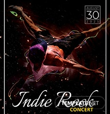 Free Indie Concert Flyer Template