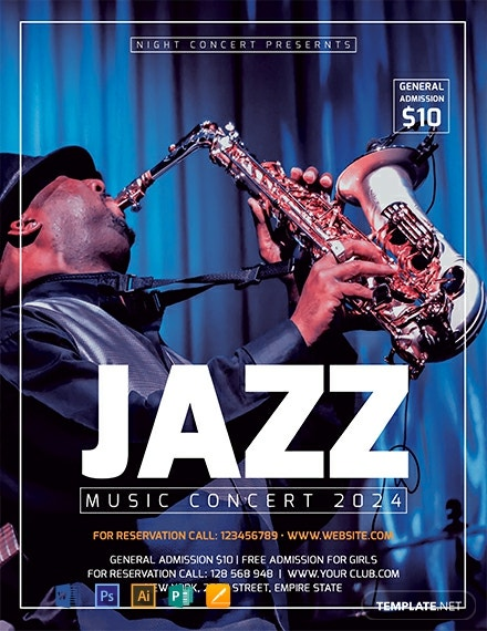 Free Jazz Concert Flyer Template