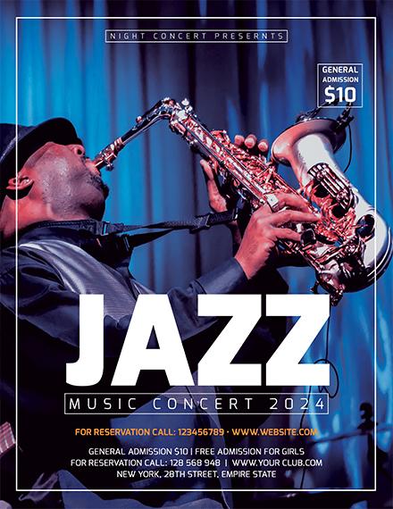 Free Jazz Concert Flyer Template