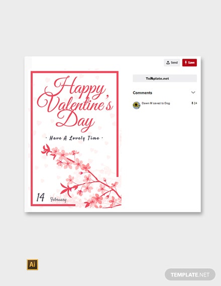 Free Valentine's Day Pinterest Post